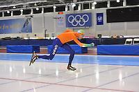 SCHAATSEN: SALT LAKE CITY: Utah Olympic Oval, 14-11-2013, Essent ISU World Cup, training, Jorrit Bergsma (NED), ©foto Martin de Jong