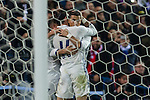 Real Madrid's Cristiano Ronaldo Lucas Vazquez  during the match of La Liga between Atletico de Madrid and Real Madrid at Vicente Calderon Stadium  in Madrid , Spain. November 19, 2016. (ALTERPHOTOS/Rodrigo Jimenez)