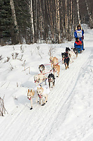 Ray Redington Jr. w/Iditarider on Trail 2005 Iditarod Ceremonial Start near Campbell Airstrip Alaska SC