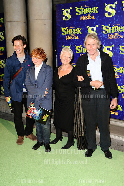 "Dame Judi Dench and boyfriend arrives for the 1st night party of ""Shrek The Musical"" at Somerset House, London. 14/06/2011  Picture by: Steve Vas / Featureflash"