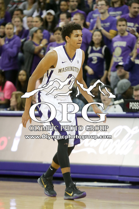 DEC 22, 2015:  Washington's Matisse Thybulle against Seattle University. Washington defeated Seattle University 79-68 at Alaska Airlines Arena in Seattle, WA.