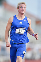 Zach Johnson of Air Force competes in 100 meter prelims during West Preliminary Track and Field Championships, Friday, May 29, 2015 in Austin, Tex. (Mo Khursheed/TFV Media via AP Images)