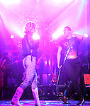 """Kristen Scott and CJ Eldred during the tech rehearsal for """"Rock of Ages"""" 10th Anniversary Production on June 13, 2019 at the New World Stages in New York City."""