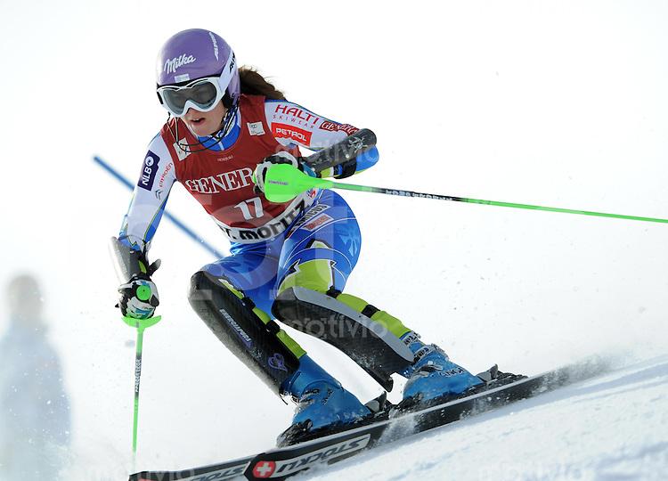 Ski Alpin  Weltcup  Frauen  Saison  2011/2012   27.01.2012  Slalom  Super Kombination Tina MAZE (SLO)