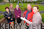 The launch of a Fundraising Campaign for the Ballymullen Mill Wheel Project at Peace Park in memory of people who lived and worked in the area  on Monday from left to right, Joan O'Regan, Eileen Kelliher, Marie O'Shea, Tommy Collins and Aoife Ni Choileain.
