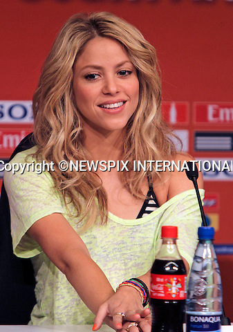 "SHAKIRA.the Colombian singer, at Soccer City prior to performing at the closing ceremony for the 2010 FIFA Soccer World Cup, Johannesburg_10/07/2010  .Mandatory Credit Photos: ©Newspix International..**ALL FEES PAYABLE TO: ""NEWSPIX INTERNATIONAL""**..PHOTO CREDIT MANDATORY!!: NEWSPIX INTERNATIONAL(Failure to credit will incur a surcharge of 100% of reproduction fees)..IMMEDIATE CONFIRMATION OF USAGE REQUIRED:.Newspix International, 31 Chinnery Hill, Bishop's Stortford, ENGLAND CM23 3PS.Tel:+441279 324672  ; Fax: +441279656877.Mobile:  0777568 1153.e-mail: info@newspixinternational.co.uk"