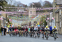 Picture by Alex Broadway/SWpix.com - 30/04/2016 - Cycling - 2016 Tour de Yorkshire: Otley to Doncaster - Yorkshire, England - The peloton makes it way through Thorner.