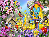 Lori, REALISTIC ANIMALS, REALISTISCHE TIERE, ANIMALES REALISTICOS, paintings+++++Spring Has Sprung!_1_72,USLS42,#A#, EVERYDAY ,puzzles ,birdhouse