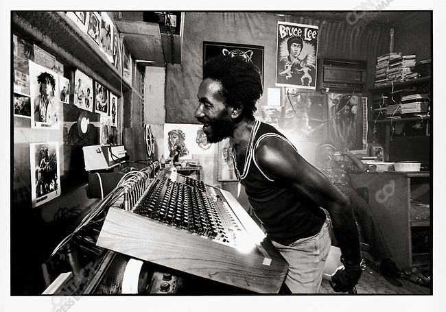 "Lee ""Scratch"" Perry at his studio. Kingston, Jamaica. March 1976"