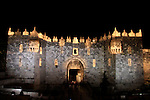 Israel, Jerusalem, Light in Jerusalem festival, Damascus Gate, the Arabs call it Bab el-Amud and the Jews Sha'ar Shkhem