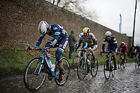 Marco Marcato (ITA/Wanty-Groupe Gobert) over the slippery cobbles<br /> <br /> GP Samyn 2016