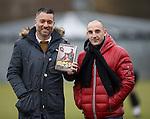Guillem Balague and Albert Ferrer at Rangers training