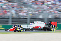 March 20, 2016: Romain Grosjean (FRA) #8 from the Haas F1 Team at turn two of the 2016 Australian Formula One Grand Prix at Albert Park, Melbourne, Australia. Photo Sydney Low