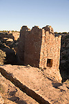 Utah, Hovenweep National Monument, Square Tower group, Ancient Pueblo or Anasazi people, archeology, sunrise, U.S.A., Southwest America..