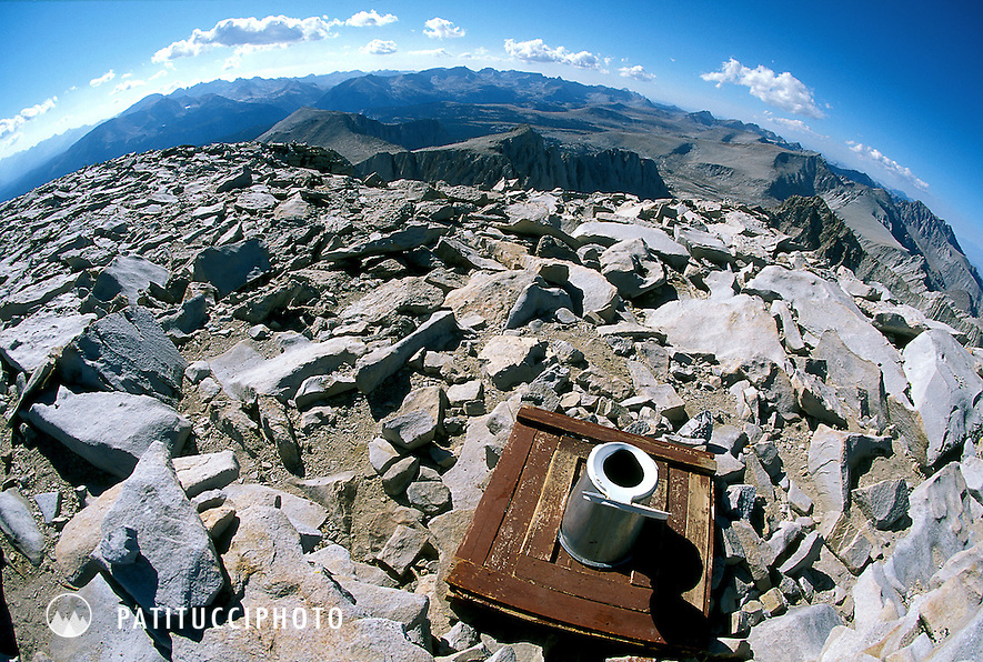 The Mt. Whitney summit toilet/outhouse