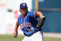 Auburn Doubledays Benjamin Grisz #39 during a game against the Batavia Muckdogs at Dwyer Stadium on June 19, 2011 in Batavia, New York.  Auburn defeated Batavia 6-4.  (Mike Janes/Four Seam Images)
