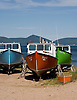 Boats in dry dock near the village of Smelt Brook, on Cape Breton, Nova Scotia. Photo by Kevin J. Miyazaki/Redux