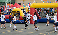 The kids having fun at the Pepsi MLS Soccer Jam at BMO Field on July 24, 2008 prior to the start of the MLS All Star Game.