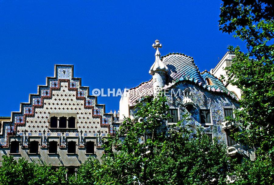 Casa Batló, obra de Gaudi, Barcelona, Espanha. 1998. Foto de Maristela Colucci.