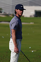 Kristoffer Broberg (SWE) on the driving range during the Preview of the Commercial Bank Qatar Masters 2020 at the Education City Golf Club, Doha, Qatar . 03/03/2020<br /> Picture: Golffile   Thos Caffrey<br /> <br /> <br /> All photo usage must carry mandatory copyright credit (© Golffile   Thos Caffrey)