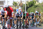 The peloton led by Team Sky give chase at the start of Stage 4 of the La Vuelta 2018, running 162km from Velez-Malaga to Alfacar, Sierra de la Alfaguara, Andalucia, Spain. 28th August 2018.<br /> Picture: Eoin Clarke | Cyclefile<br /> <br /> <br /> All photos usage must carry mandatory copyright credit (&copy; Cyclefile | Eoin Clarke)