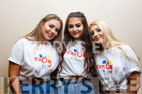 3 Youth Leaders who organised the KYDS Disco in the Brandon Hotel on Friday night last. L-r, Caoimhe O'Connell, Niamh Canty and Faye Mulvihill all from Listowel.
