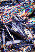 CUPRIC CHLORIDE CRYSTALS - CuCl2 (100X/35MM)<br /> CuCl2; 100x mag<br /> Liquefied &amp; recrystallized; polarized light