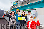 Moriarty's Shop, Ballyheigue employee, Grainne Galway was on Winning Streak and won €45,000 on the Game Show last Saturday.  Grainne is the fourth person to have bought a ticket in Moriarty's shop this year to appear in Winning Streak. Pictured here with Fiona Moriarty, Brendan Moriarty, Joseph Moriarty, Margaret Moriarty