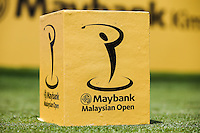 Tee marker during the preview days of the 2014 Maybank Malaysian Open at the Kuala Lumpur Golf & Country Club, Kuala Lumpur, Malaysia. Picture:  David Lloyd / www.golffile.ie