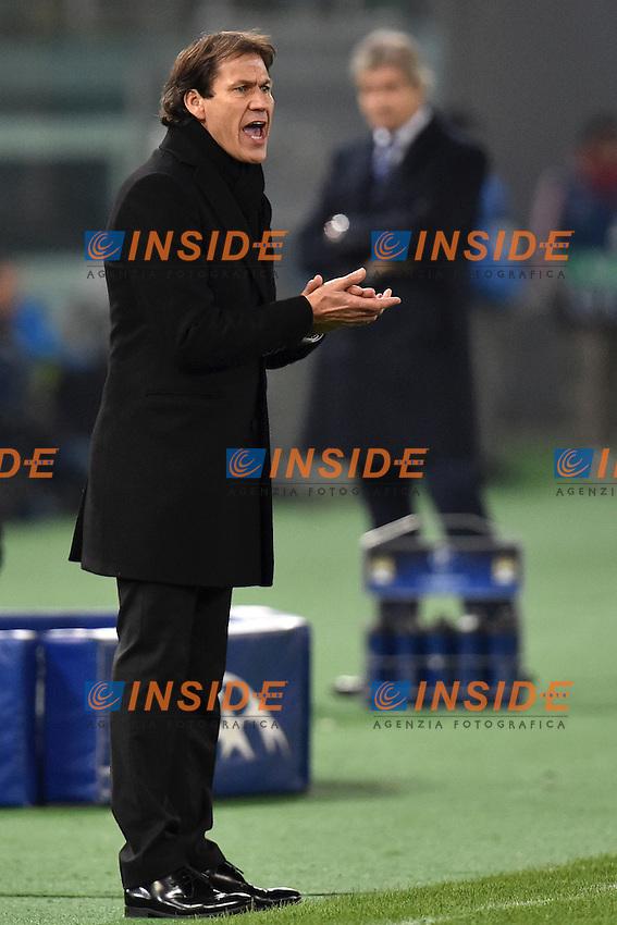 Rudi Garcia Roma, Manuel Pellegrini Manchester <br /> Roma 10-12-2014 Stadio Olimpico, Football Champions League Group Stage Group E . AS Roma - Manchester City. Foto Andrea Staccioli / Insidefoto