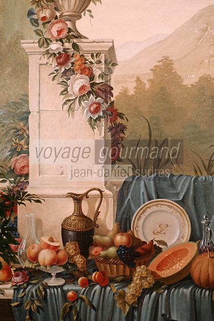 Europe/Monaco/Monte Carlo: Hotel de Paris - Intérieur du restaurant Louis XV - Détail déco