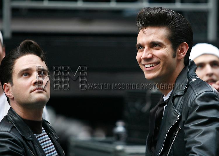Ryan Patrick Binder & Derek Keeling ( GREASE )<br />attending BROADWAY on BROADWAY 2008 in Times Square, New York City.<br />September 14, 2008