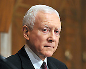 Washington, D.C. - January 9, 2009 -- United States Senator Orrin G. Hatch (Republican of Utah) questions United States Representative Hilda L. Solis (Democrat of California) during her testimony before the United States Senate Committee on Health, Labor, Education, and Pensions on her nomination to be United States Secretary of Labor in Washington, D.C. on Friday, January 9, 2009..Credit: Ron Sachs / CNP