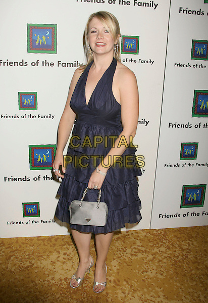 MELISSA JOAN HART.11th Annual Families Matter Benefit and Celebration held at the Beverly Wilshire Hotel, Beverly Hills, California, USA..June 1st, 2007.full length blue layered layers dress silver shoes bag purse .CAP/ADM/RE.©Russ Elliot/AdMedia/Capital Pictures*-