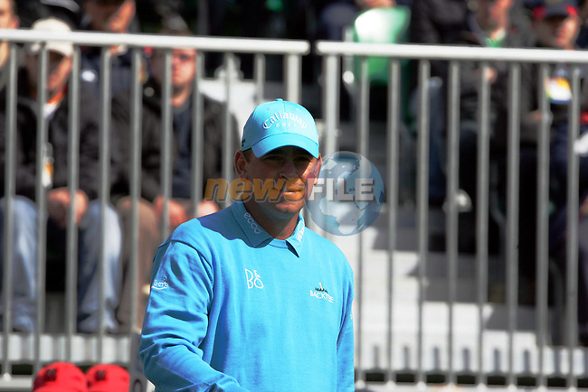 Thomas Bjorn prepares to drive off on the 1st hole during the third round of the Irish Open on 19th of May 2007 at the Adare Manor Hotel & Golf Resort, Co. Limerick, Ireland. (Photo by Eoin Clarke/NEWSFILE)