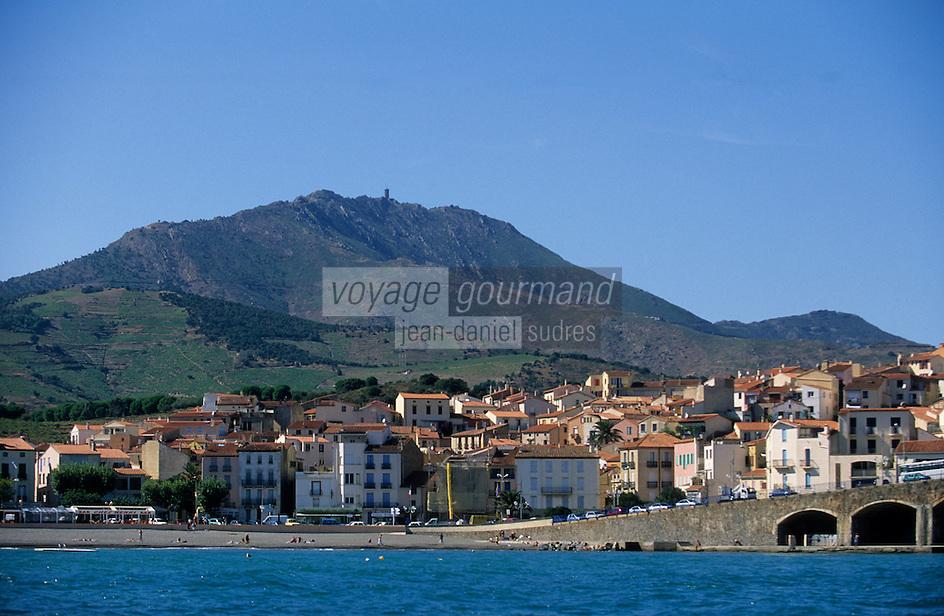 Europe/France/Languedoc-Roussillon/66/Pyrénées -Orientales/Banyuls-sur-Mer : le front de mer