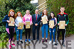All smiles and happy faces for the Junior Cert Results in Colaiste na Sceilge on Wednesday, pictured here l-r; Gráine Murphy, Orla Fayne, Siofra O'Shea, John O'Connor(Principal), Sarah Landers, Sarah McCarthy & Daniel Cronin.
