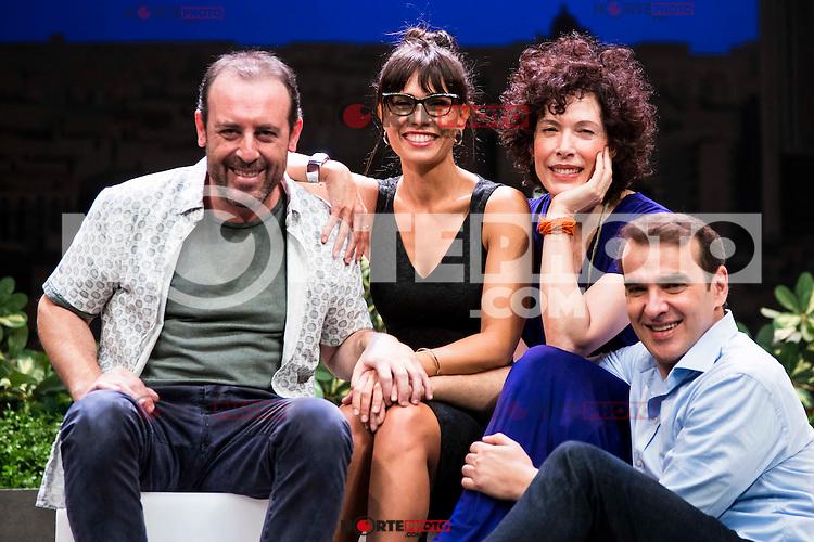 "Antonio Molero,Itziar Atienza, Maru Valdivieso and Luis Merlo during the theater play ""El Test"" at Teatro Cofidis in Madrid. September 15, Spain. 2016. (ALTERPHOTOS/BorjaB.Hojas) /NORTEPHOTO"