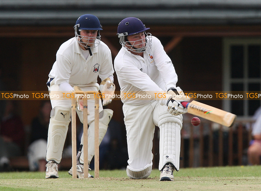 M Davy bats for South Weald - South Weald CC vs Havering-atte-Bower CC - Mid-Essex Cricket League - 02/08/08 - MANDATORY CREDIT: Gavin Ellis/TGSPHOTO - Self billing applies where appropriate - Tel: 0845 094 6026.