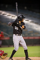 AZL White Sox shortstop Laz Rivera (36) at bat against the AZL Angels on August 14, 2017 at Diablo Stadium in Tempe, Arizona. AZL Angels defeated the AZL White Sox 3-2. (Zachary Lucy/Four Seam Images)