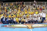 TORONTO, CANADA, 24.07.2015 - PAN-HANDBALL - Atletas de Brasil (ouro), Argentina (prata) e Uruguai (bronze) possam pra foto após  final do Handball Feminino no Centro de Exposições de Toronto nesta sexta-feira, 24.  (Foto: William Volcov/Brazil Photo Press)