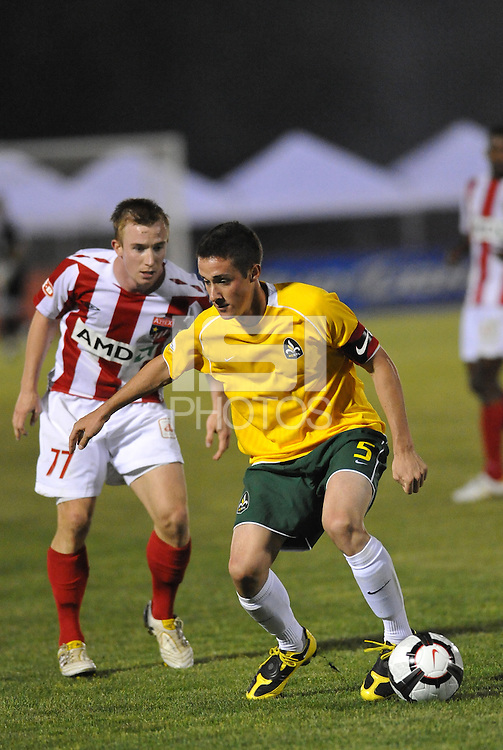 Jack Traynor #5, Jamie Watson...AC St Louis were defeated 1-2 by Austin Aztek in their inaugural home game in front of 5,695 fans at Anheuser-Busch Soccer Park, Fenton, Missouri.