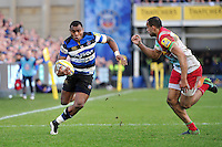 Semesa Rokoduguni of Bath Rugby in possession. Aviva Premiership match, between Bath Rugby and Harlequins on February 18, 2017 at the Recreation Ground in Bath, England. Photo by: Patrick Khachfe / Onside Images