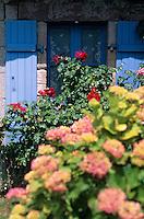 Europe/France/Bretagne/22/Côtes d'Armor/Pléneuf-Val-André: Détail maison de pêcheur sur le port du Dahouet