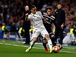 Real Madrid CF's Lucas Vazquez and AFC Ajax's Nicolas Tagliafico during UEFA Champions League match, Round of 16, 2nd leg between Real Madrid and AFC Ajax at Santiago Bernabeu Stadium in Madrid, Spain. March 05, 2019.(ALTERPHOTOS/Manu R.B.)