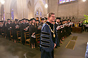President Vincent Price processes into Duke Chapel for his first Baccalaureate Service.