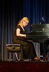 MERRICK - NOV. 13: Marilyn Sherman, pianist, after performing with Stanley Drucker and Naomi Druciker in concert presented by Merrick-Bellmore Community Concert Association, November 13, 2010, in Merrick, NY, USA