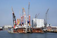 Haven van Rotterdam. Damen Shiprepair