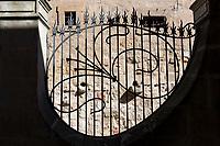 Railings of Casa Lis museum of art deco and art nouveau, Museo de Art Nouveau y Art Deco, Salamanca, Spain