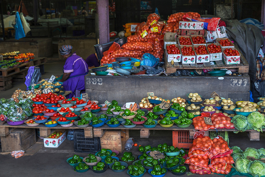 Vegetable stand in Durban, South Africa.